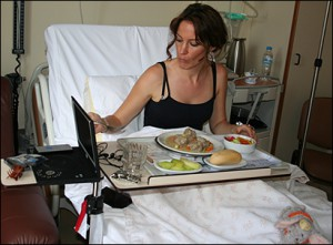 Dealing with hospital food - different topic!